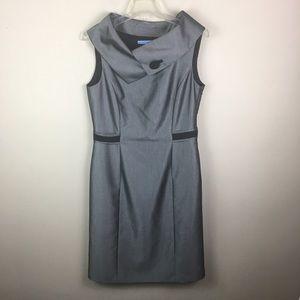 Antonio Melani  silver  wrap around collar dress
